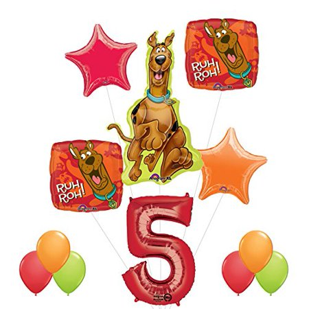 Scooby Doo 5th Birthday Party Supplies and Balloon Decorations - Happy Halloween Scooby Doo Part 2