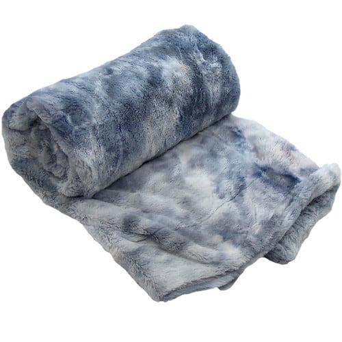 BOON Throw & Blanket Tie Dye Double Sided Faux Fur Throw Blanket