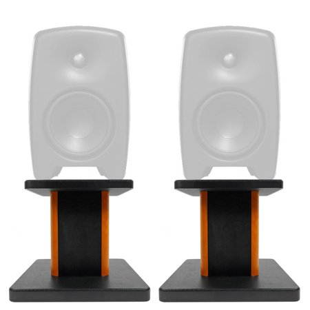 "Rockville 8"" Wood Studio Monitor Speaker Stands For Genelec M030AM Monitors"