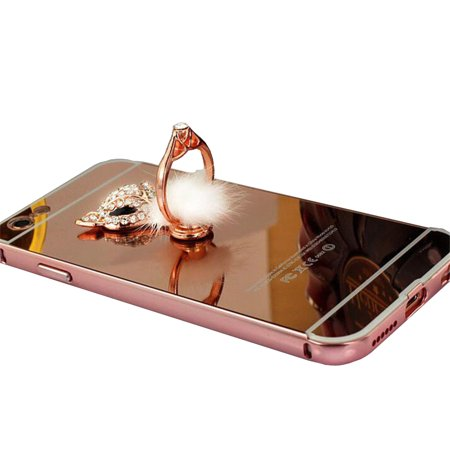 Cell Phone Support Stand Crystal Stone Fox with the Ring Cell Phone Holder, (Crystal Mobile)