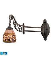Wall Sconces 1 Light With LED Tiffany Bronze Finish 24 inch 13.5 Watts - World of Lamp