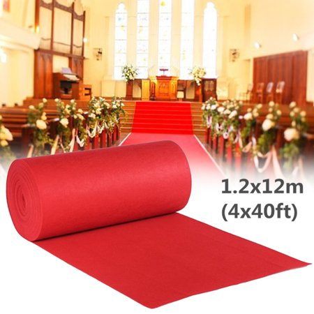 40ftx4ft Large Red Carpet Wedding Aisle Floor Runner Hollywood Party Decoration