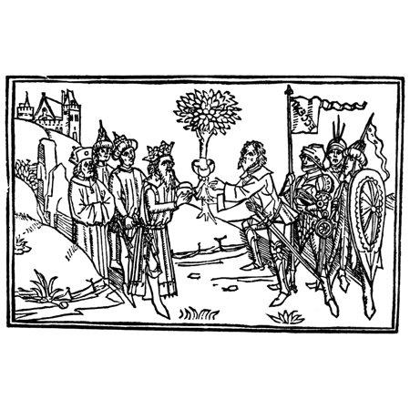 Melchizedek And Abraham Nking Melchizedek Presents Abraham