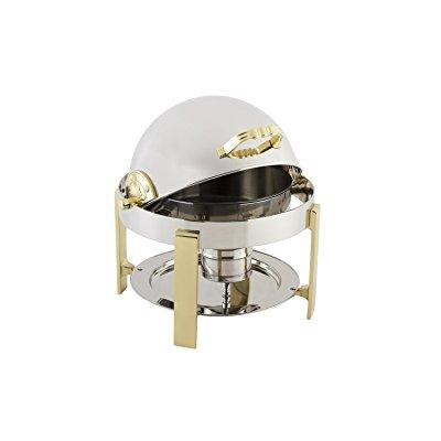 Bon Chef 20014 Stainless Steel Petite Round Chafing Dish with Contemporary Legs, 3 quart Capacity, 14 Diameter... by Bon Chef