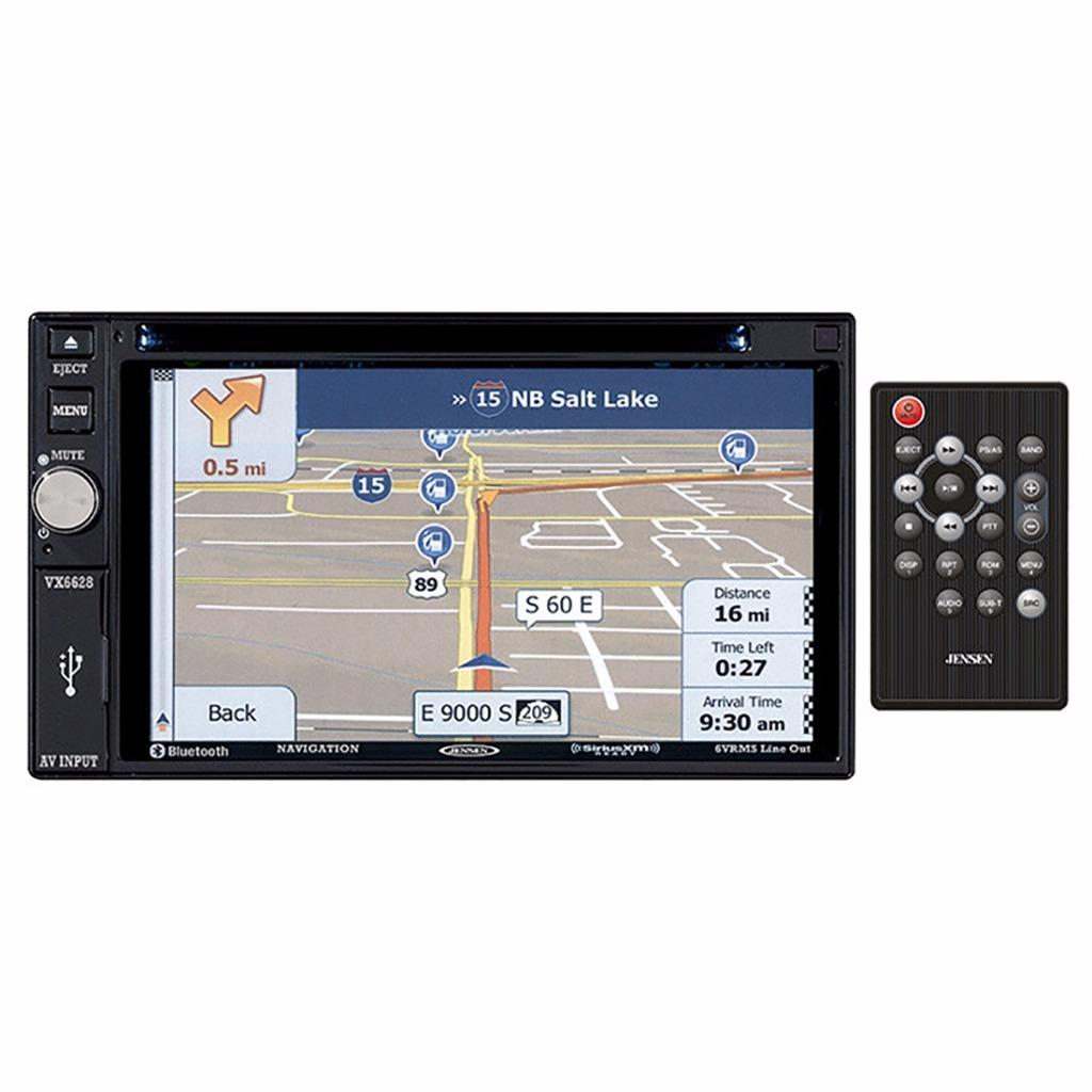 Jensen VX6628 2-DIN Car In-Dash DVD Bluetooth NAV Receive...