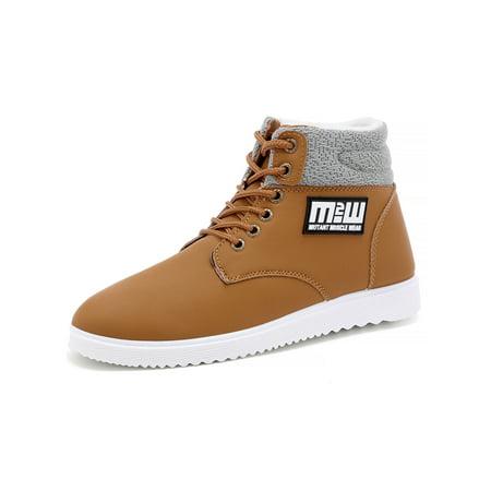 - Men Snow Shoe Waterproof High Top Lace Up Comfortable Warm Winter Shoes