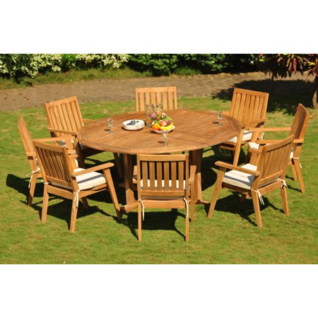 88964fa040277 Teak Dining Set  8 Seater 9 Pc  72