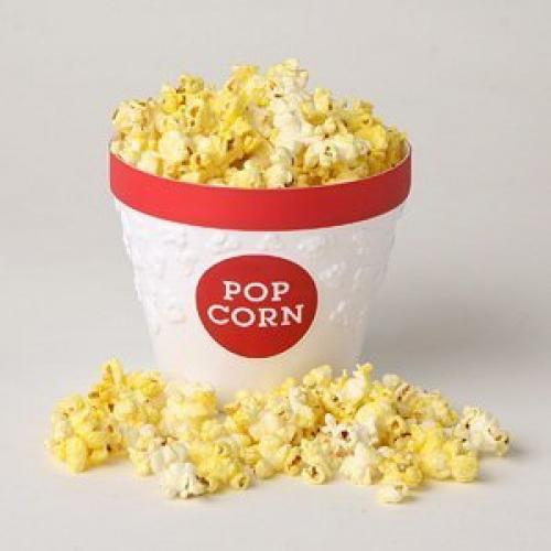 Movie Style Popcorn Serving Bucket Assorted colors