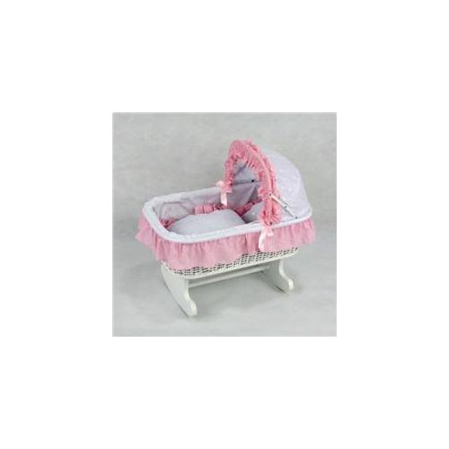 Regal Doll Carriages P186H Susanne Wicker Rocking Doll Bed