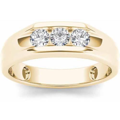 Imperial 1/2 Carat T.W. Diamond Men's 14kt Yellow Gold Ring