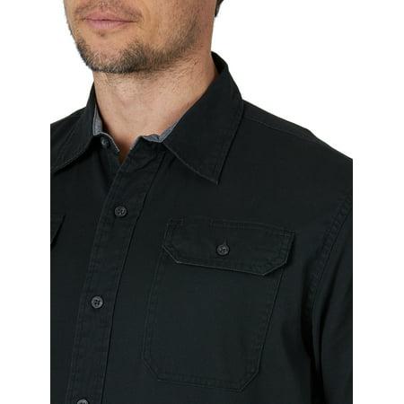 Wrangler Men's Short Sleeve Comfort Stretch Woven Shirt