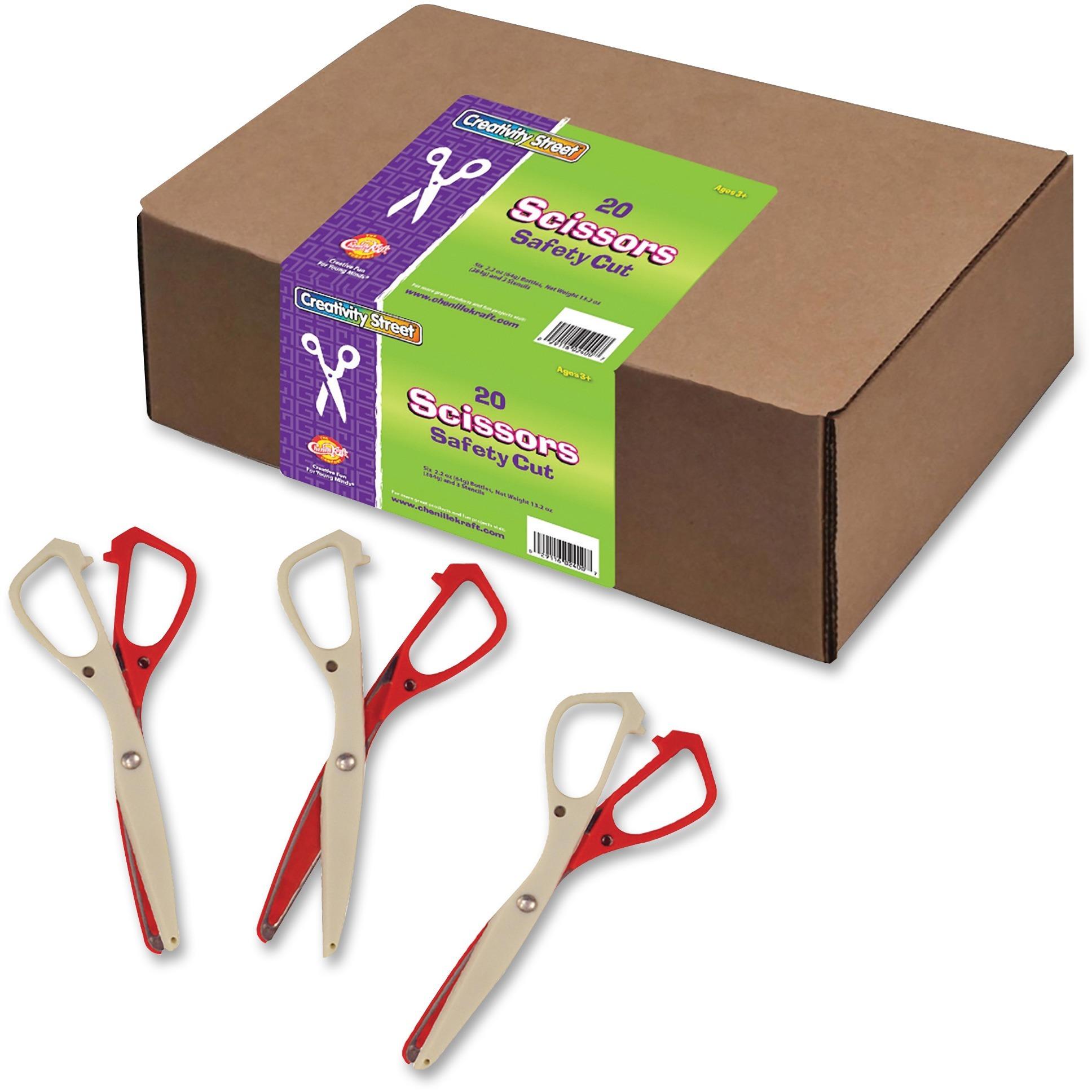Creativity Street, CKC962001, Safety Cut Scissors Classpack, 20 / Set, Assorted