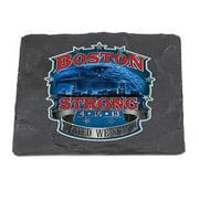 Erazor Bits FF2129-SC100 Paramedic Natural Stone Coasters - Boston Strong, Ivory