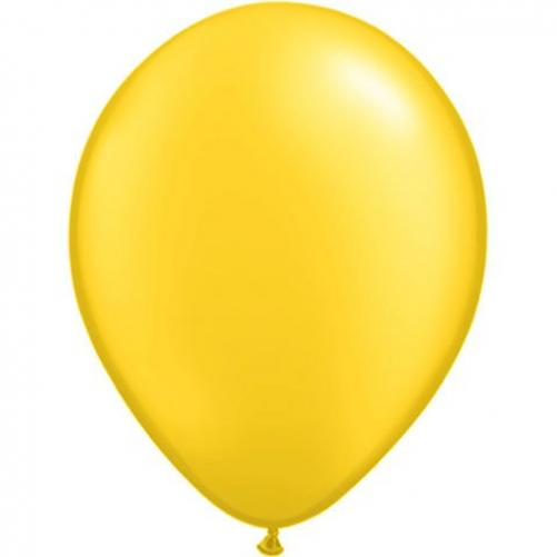 Image of 5 Inch (100 ct.)-Pearl Citrine Yellow Qualatex Latex Balloons