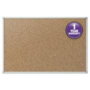 Mead Cork Bulletin Board, 96 x 48, Silver Aluminum Frame -MEA85364