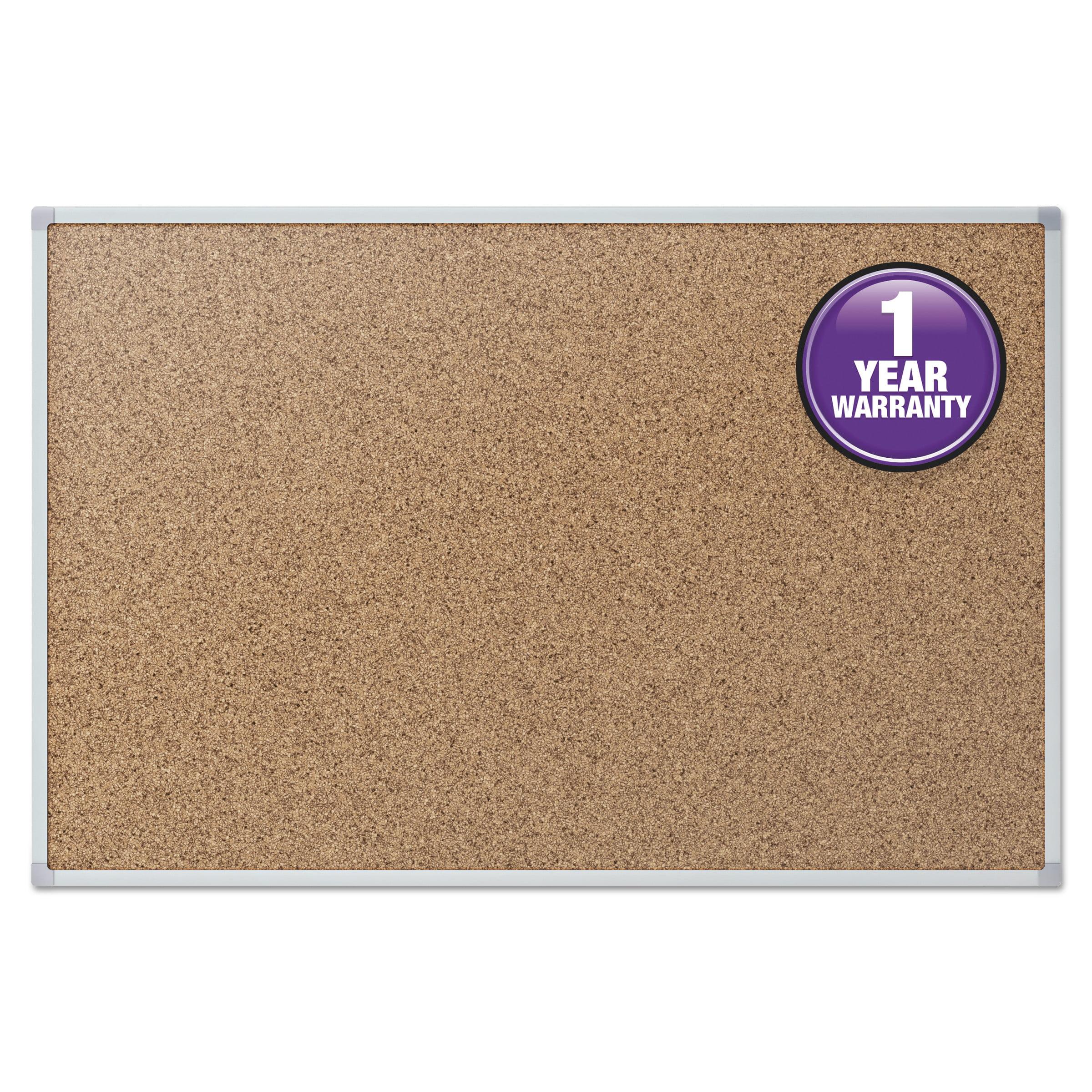 Mead Cork Bulletin Board, 36 x 24, Silver Aluminum Frame -MEA85361