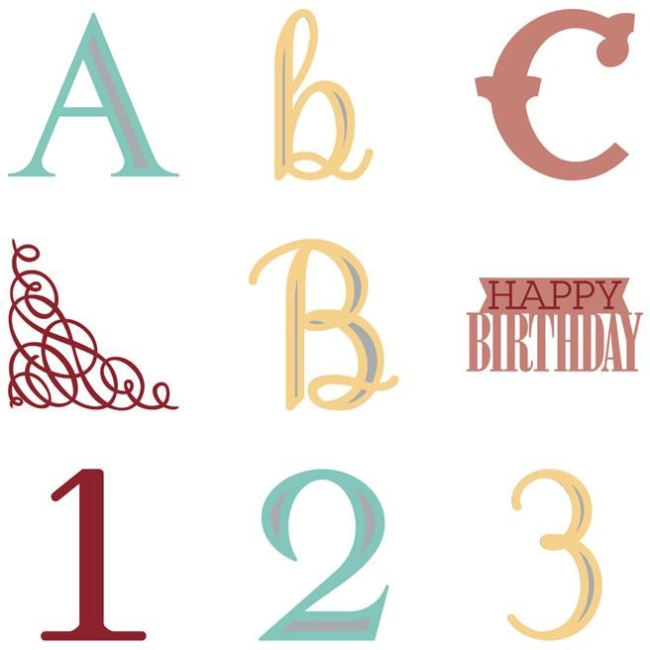 CRICUT Anna Griffin Soiree Lettering Cartridge - 14 Piece(s)