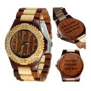 Wooden watch-Wood watch-Wood engraving-Custom engraving watch- personalized watch-Handmade watch-Anniversary gift-Men's watch-Women's watch - Unisex watch- Personal Message Laser Engraving - Gamma I