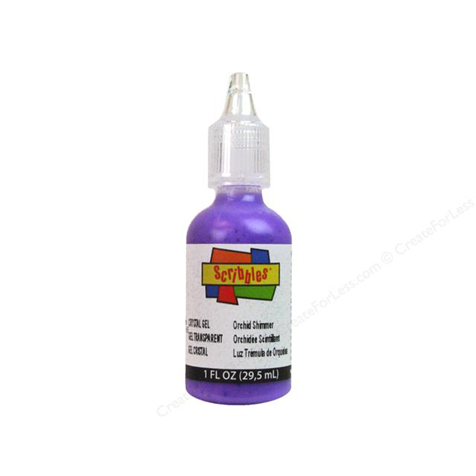 Fabric Paint 1oz-Crystal-Orchid Summer Multi-Colored