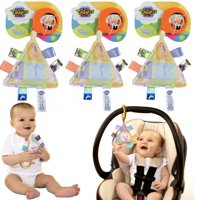 Take-Along Taggies (3 Pack) Baby Toys Hanging Baby Toys Baby Sensory Toys Car Seat Toys Baby Stroller Toy Set