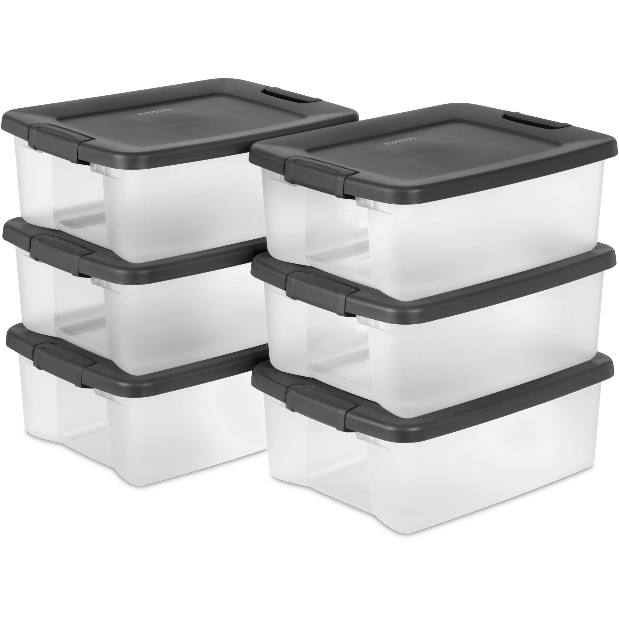 Sterilite 25-Quart ShelfTote, Gray