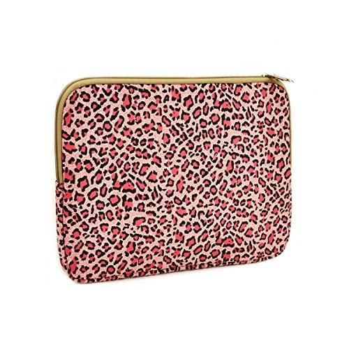 Rainbow Stripes Zebra Leopard Texture Tablet Bag Stylish Printed Laptop Handbag Lightweight Neoprene Notebook Cover for Teen Students White 13inch