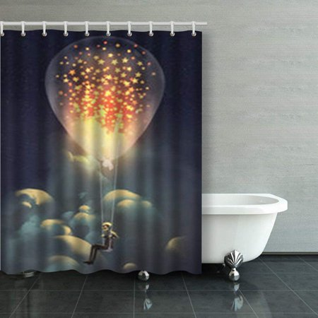 WOPOP Man Big Balloon Glowing Stars Inside The Star Painting Shower