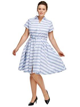 04db1bf7ebe87 Product Image Ellos Plus Size Sandy Shirtwaist Dress