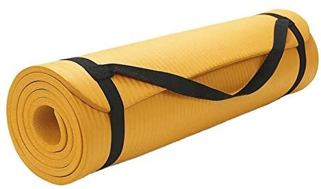 Extra Thick Exercise Mat Shop4Omni Yoga mat 72 X 24 with Carrying Strap for Travel