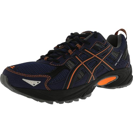 Asics Men's Gel Venture 5 Indigo Blue Hot Orange Black Ankle High Running Shoe 7.5M