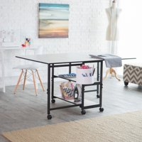 Sullivans Home Hobby Adjustable Height Foldable Table for Sewing and Crafts
