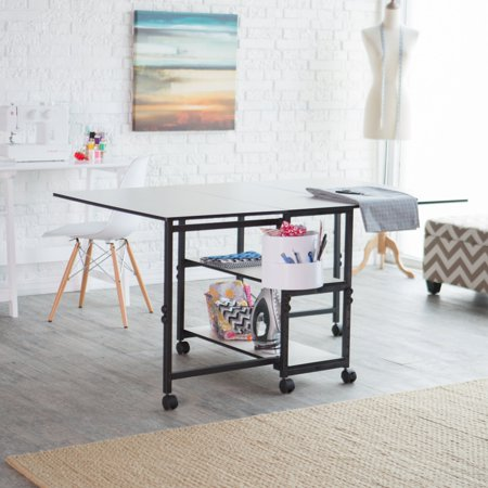 Sullivans USA Home Hobby Adjustable Height Foldable Table (Homemade Craps Table)