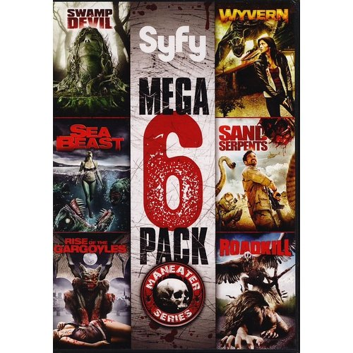 Syfy Mega 6-Pack: The Maneater Series - Swamp Devil / Sea Beast / Rise Of The Gargoyles / Wyvern / Sand Serpents / Roadkill