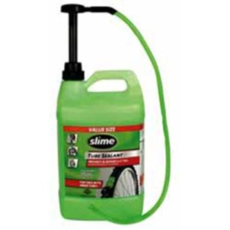 Slime Tube Sealant 1 Gallon Bottle With Pump For All Tires With