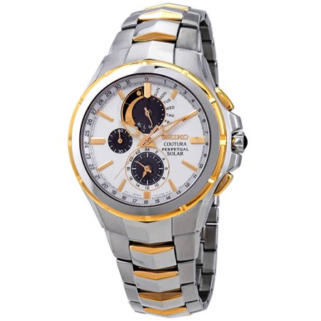 Seiko Kinetic Perpetual Calendar - Coutura Mens Solar Perpetual Calendar Chronograph Watch SSC560