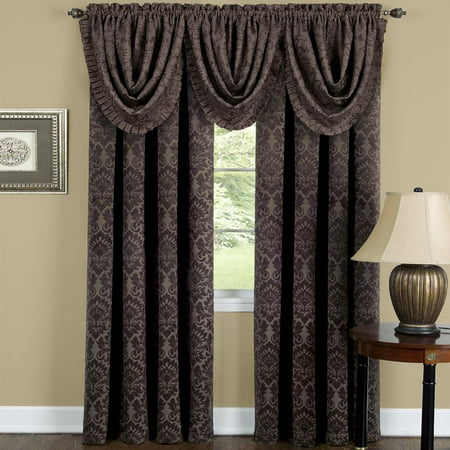 - Achim Sutton Window Curtain Panel 52x63 - Brown