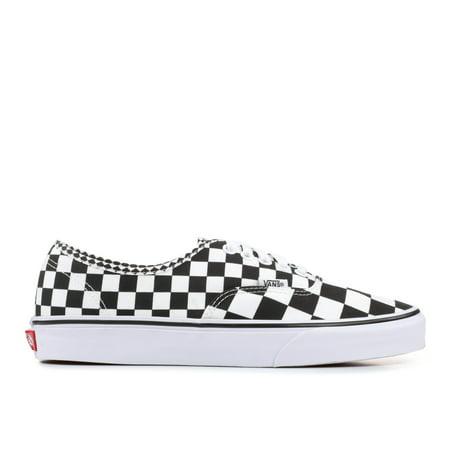Mens Vans Authentic Mix Checker Black True White VN0A38EMQ9B - Checkered Vans