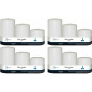 Mainstays 3-Pack Waterfall Pillars, Unscented, Set of 4
