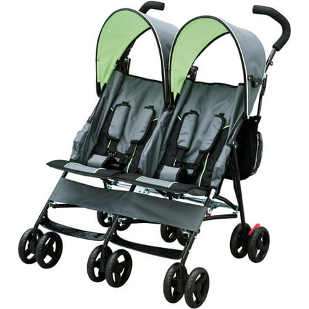 Delta Children LX Side by Side Double Stroller, Lime (Best Stroller For Older Kids)