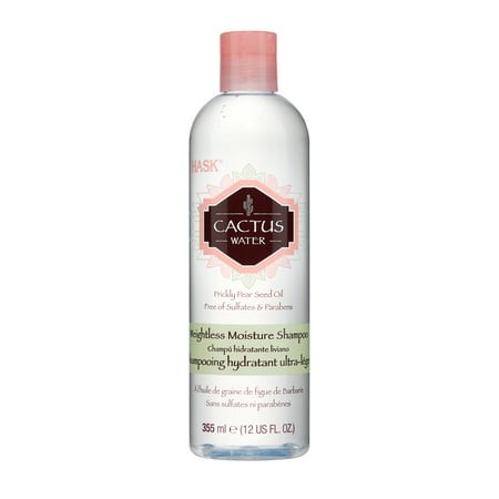 HASK Cactus Water Weightless Moisture Shampoo with Prickly Pear Seed Oil, 12 FO