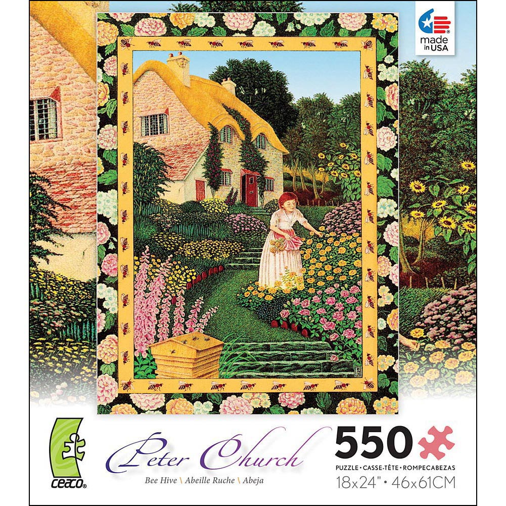 Puzzles Bee Hive 550 Piece Puzzle, More Folk Art by Ceaco