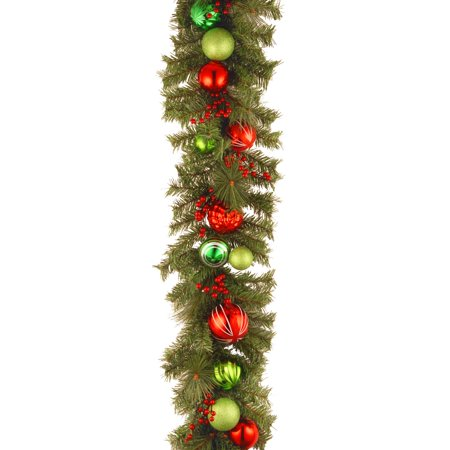 National Tree 6 x 12 Decorative Collection Red and Green Garland
