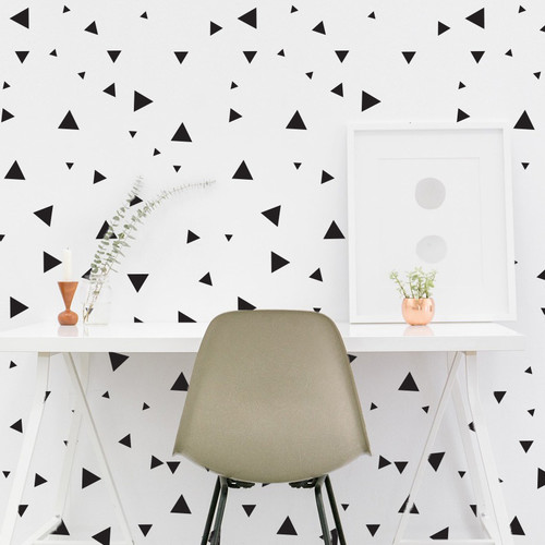 Dana Decals Multi-Size Tiny Triangles Wall Decal Set (Set of 75)