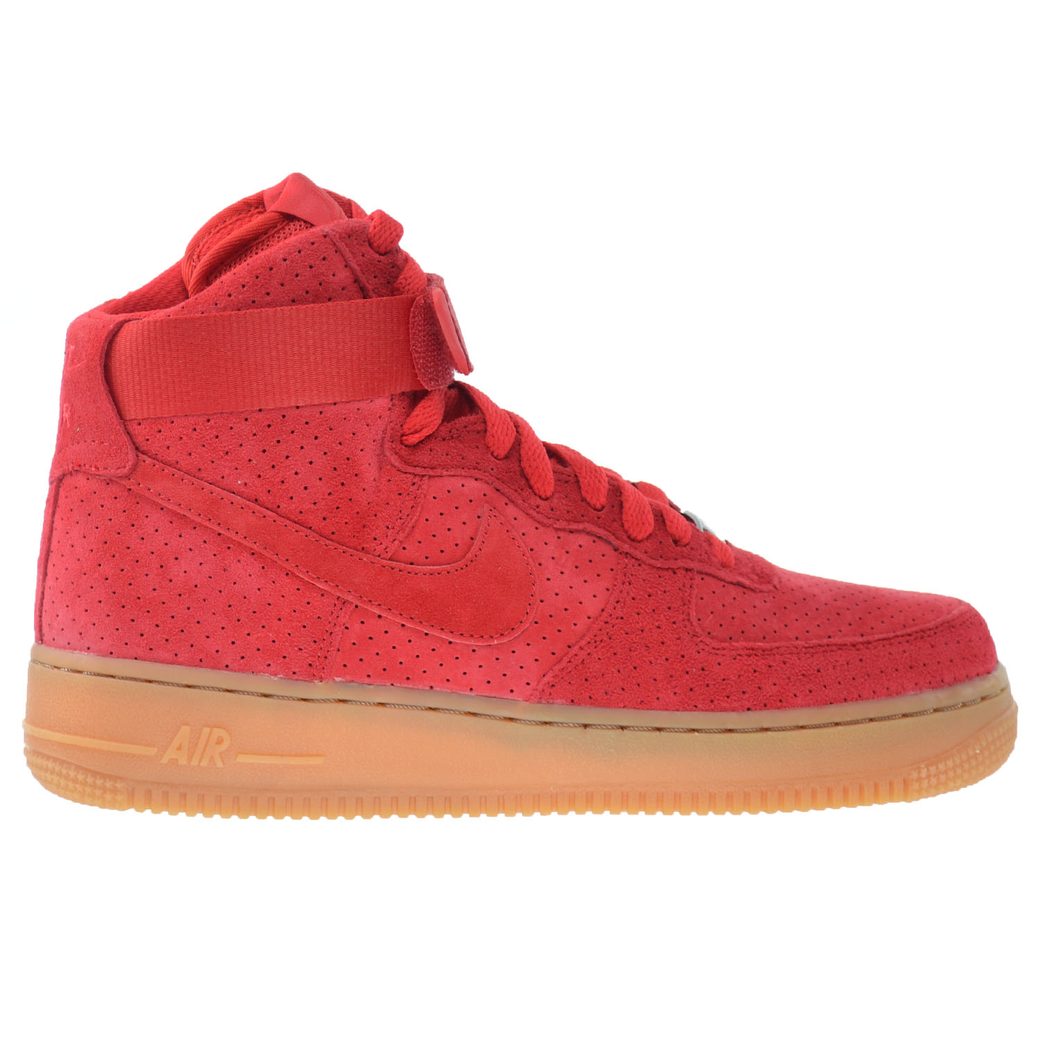 Nike Air Force 1 HI Suede Women's Shoes University Red 74...
