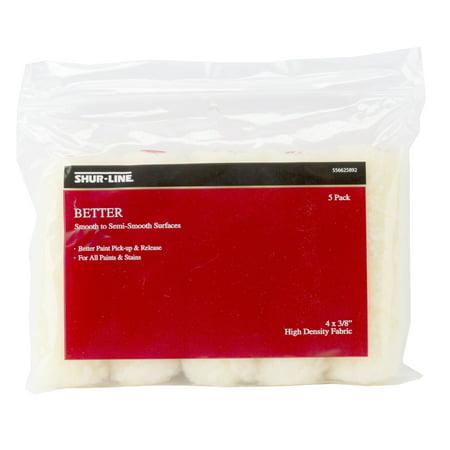 (Shur-Line Better 4 x 3/8 Mini Roller Cover - 5 Pack)
