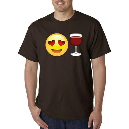 345 - Unisex T-Shirt Emoji Smiley Face Heart Eyes Love Wine - Empty Heart Emoji