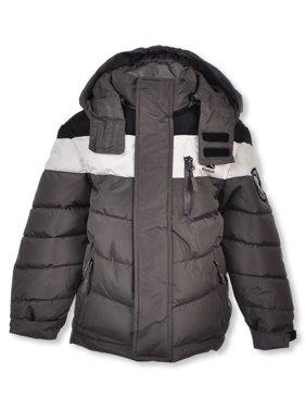 Reebok Boys' Blocked Chevron Quilt Insulated Jacket