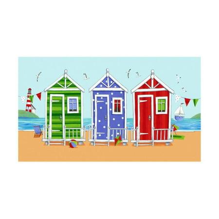 Beach Huts Print Wall Art By Peter Adderley