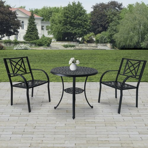 Charlton Home Kelty 3 Piece Bistro Set (Set of 3) by