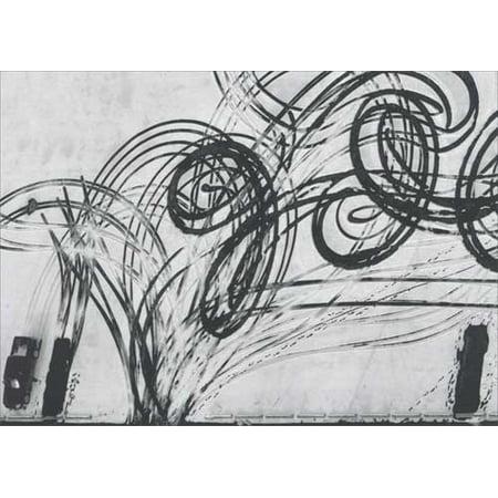 Avanti Press Tire Tracks In Snow - Overhead Historic Detroit Blank Note Card